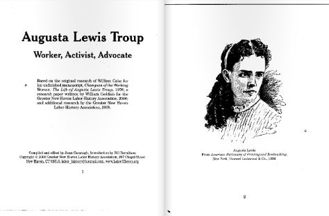 Augusta Lewis Troup Booklet published by GNHLHA